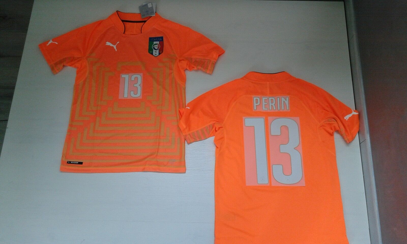 FW14 PUMA XXL ITALY 13 PERIN SHIRT GOALKEEPER T-SHIRT WORLDWIDE SHIRT JERSEY 0,5