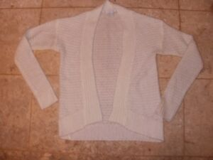 Delia's Ivory Long Sleeve Cardigan Sweater, Size Small