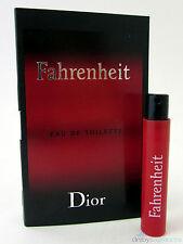 Dior Fahrenheit Men's Eau de Toilette EDT Spray 0.03 oz 1 ml Sample Vial New