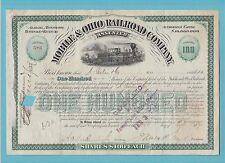 MOBILE  &  OHIO  RAILROAD  COMPANY  -  SHARE  CERTIFICATE  OF  1898