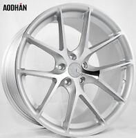19X8.5 AodHan LS007 5X120 +35 Silver Rims Fits Bmw 525xi 530xi 535 xi e60 (awd)