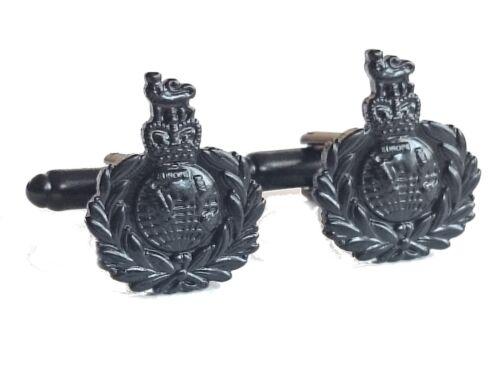 Royal Marines Cufflinks Military Cuff Links Subdued Black