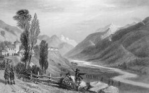 ITALY-Piedmont-Traverse-in-Val-Prajelas-Antique-Print-Engraving