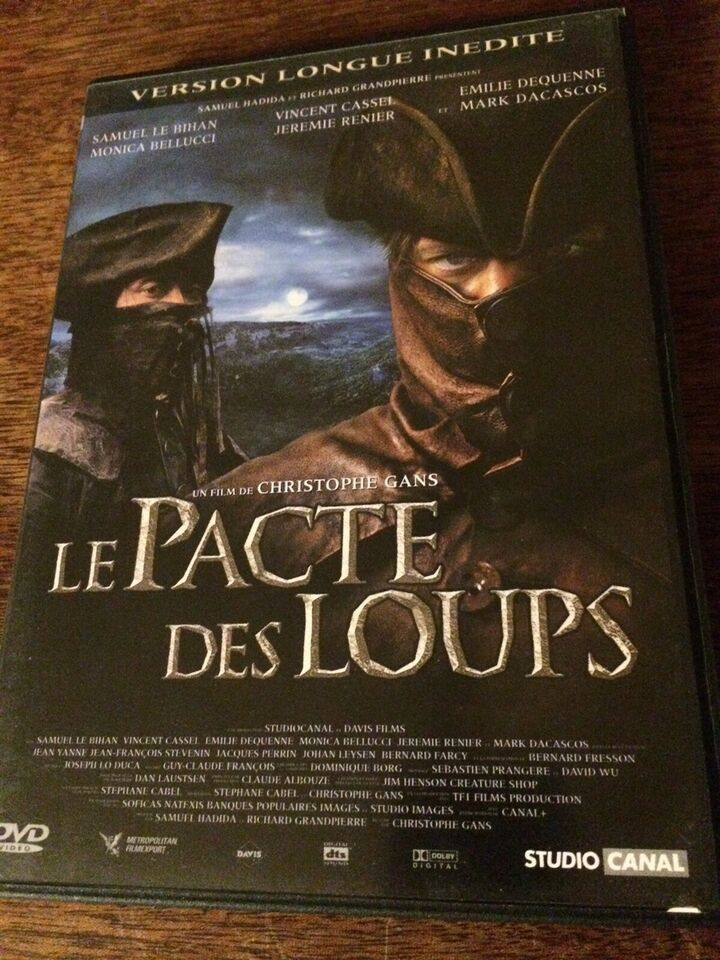 Le Pacte Des Loups, instruktør Christophe Gans, DVD