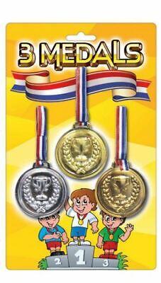Gold Silver Bronze Medals Kids Children Winners Reward Uk