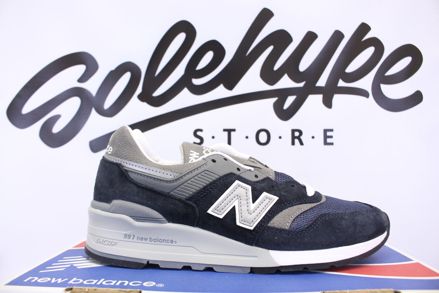 NEW BALANCE 997 NAVY BLUE GREY OG REISSUE NB MADE IN THE USA M997NV SZ 5.5