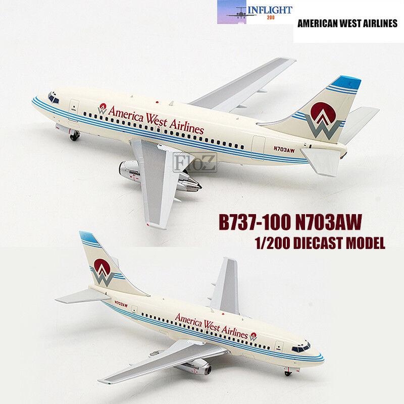 Influght AMERICAN WEST AIRLINES B737 -100 1  200 tärningskast planmodellllerl för flygagagplan