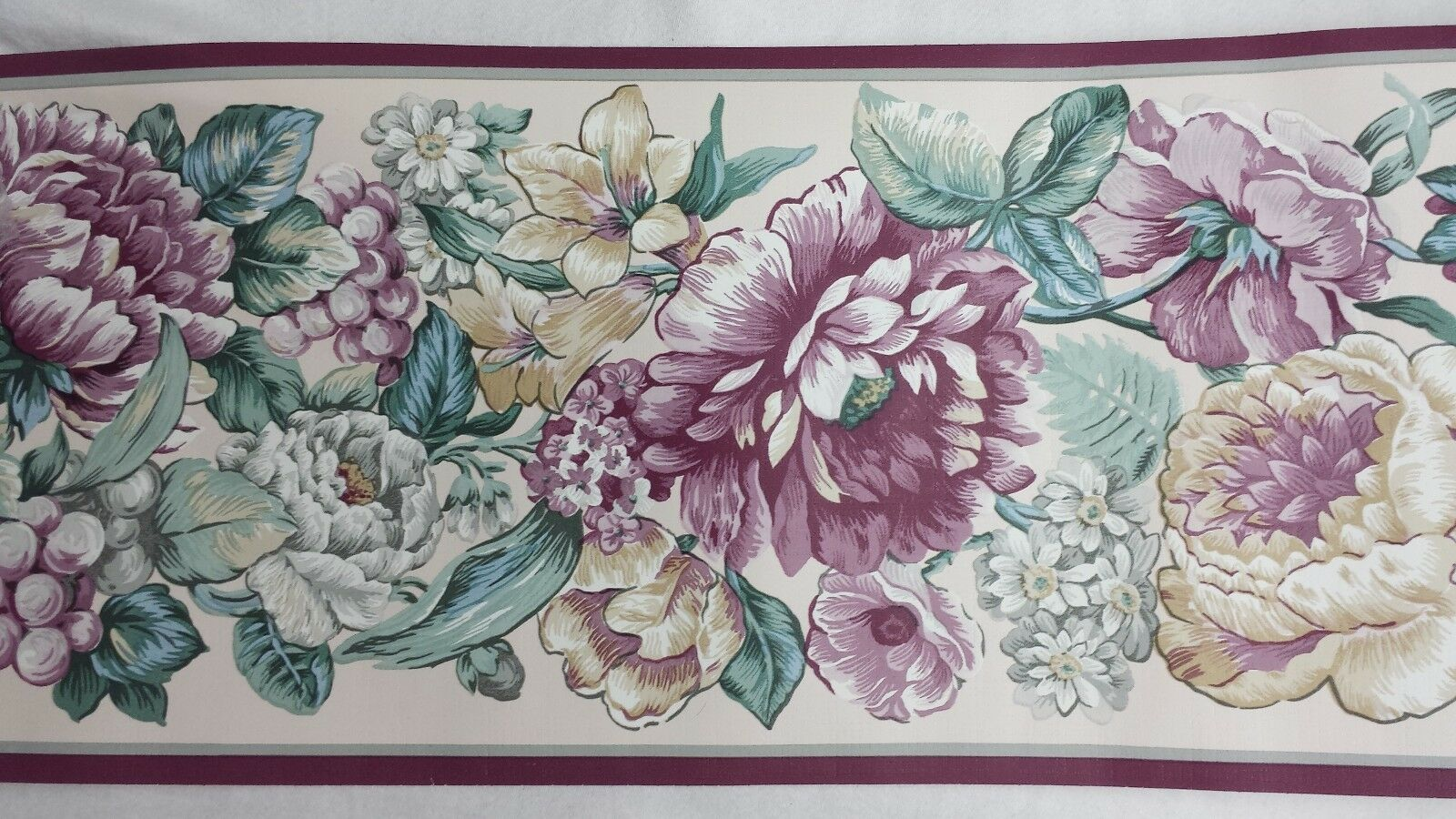 Floral Wall Border Roses English Florals Shabby Country Cottage