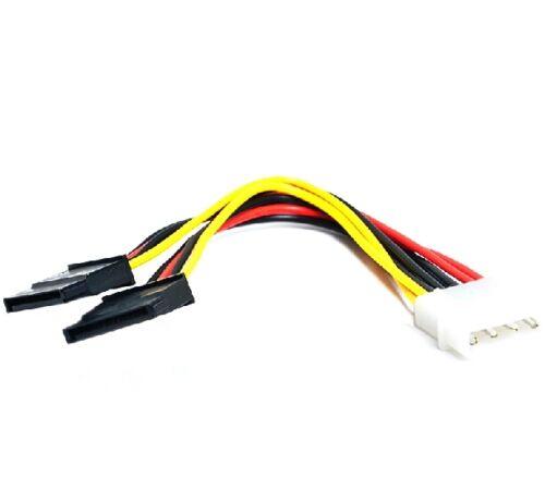 4Pin IDE Molex to 2 Serial ATA SATA Splitter Hard Drive Power Adaptor Cable New