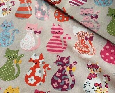 Cats fabric Cats Design Fabric Kitten Fabric Cotton Material Cats Material UK Fabric Cotton fabric Kids Fabric Pink Cotton Fabric