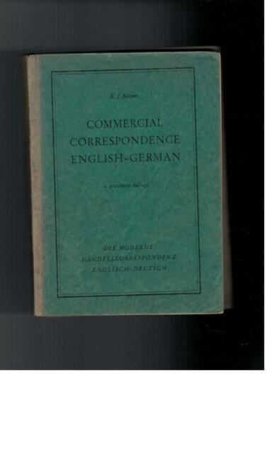 K.J. Keimer - Commercial Correspondence English-German - 1953