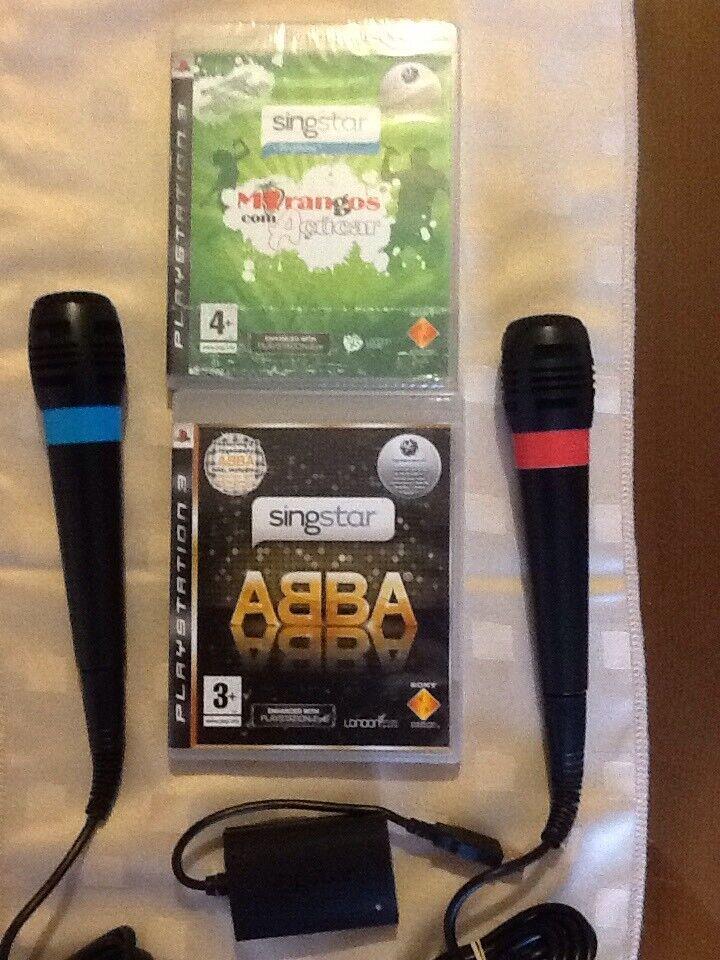 (PS3) Singstar Portugues Morangues Com Acucar New And ABBA Used English & Mics