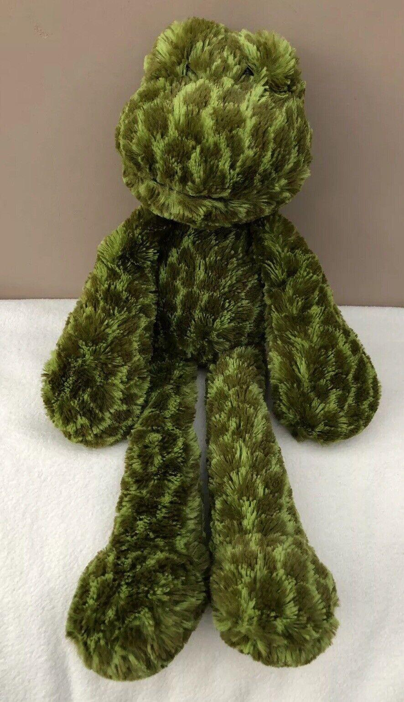 JellyCat merryday Frog Trapunta Trapunta Trapunta bambino soft giocattolo peluche verde in pensione MOLTO RARA 24a4df