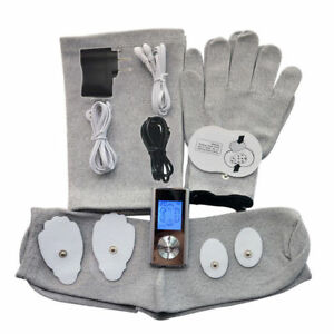 TENS-MACHINE-DIGITAL-THERAPY-FULL-BODY-MASSAGER-Knee-Pads-Electrode-Gloves-Socks