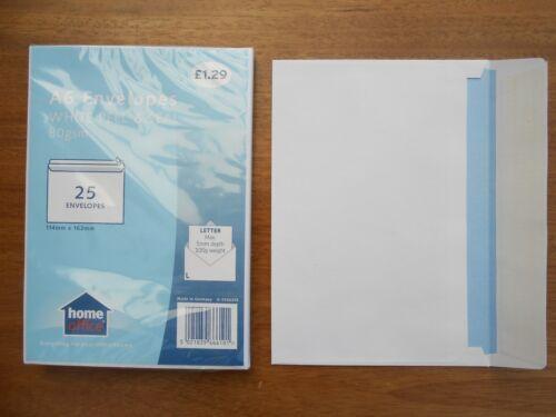 """6.5/""""x4.5/"""" C6 peau de phoque enveloppes 25 Per Pack 114x162mms Acheter échantillons ou packs"""