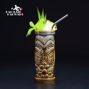 Hawaiano-Giungla-King-Tiki-Mug-Cocktail-Coppa-Birra-Bevanda-Vino-Ceramica-Decor
