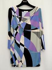 Emilio Pucci Blue Printed Top Blouse UK10 IT42 Dress RRP690GBP