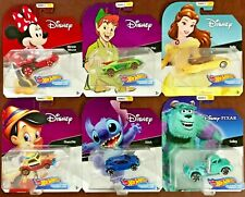 Hot Wheels 2018 Character Cars Disney Series 2 #fyv82 1 64 Scale (set of 6)