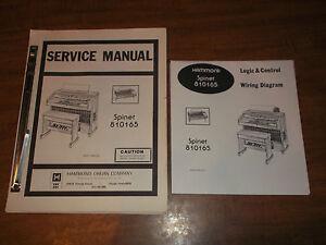 Hammond Organ Spinet 810165 Service Manual Schematics Parts ... on