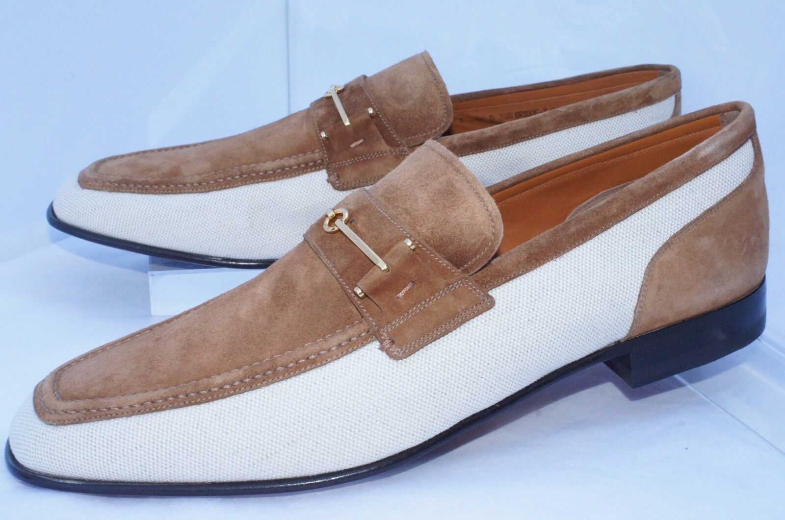 New Bally Men's Shoes Bridge Loafers Brown Drivers Size 10.5 43.5