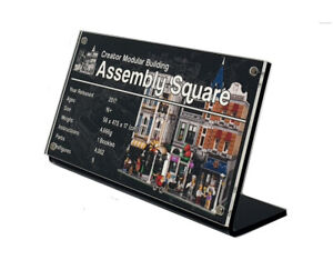 LEGO 10255 Assembly Square - CUSTOM ACRYLIC DISPLAY STAND