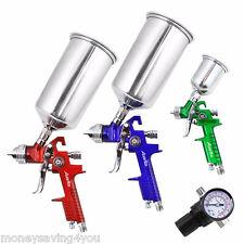 Professional Spray Gun Auarita 3PCS HVLP Air Spray Gun Kit Gravity Feed Paint US
