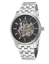 Rotary GB03876/04 Men's Automatic Skeleton Bracelet Silver Watch. 587