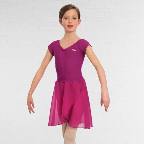 ABD Rose Pink Ballet Dance Grades 1-4 Voile Wrapover Skirt