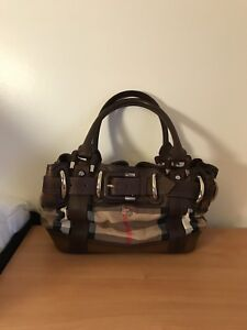 edadcc97175a Image is loading Burberry-Baby-Beaton-Check-Leather-Tote-Bag