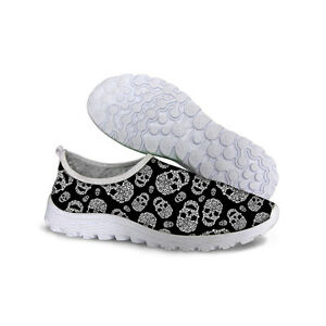 Fashion-Skull-Cross-Training-Shoes-Women-039-s-Running-Shoes-Breathable-Sport-Shoes