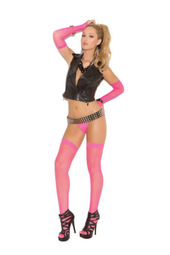 FISHNET THIGH HI PLUS OR ONE SIZE 7 COLORS UV GLOW IN NEON WOMAN CLOTHING