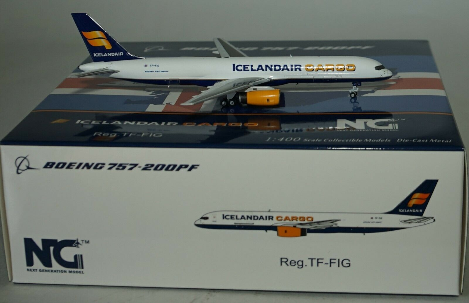 NG Model 53078 Boeing 757-23APF Icelandair Cargo Tf-Fig in 1 400 Maßstab