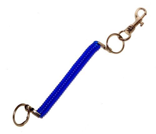 24x Schlüsselanhänger Schlüsselring Stretch Schlüsselband  Spiralkabel Karabiner