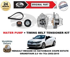 /& gt Correa Dentada Tensor Para Renault Laguna 1.6 16v 1998 Kit Bomba De Agua Set