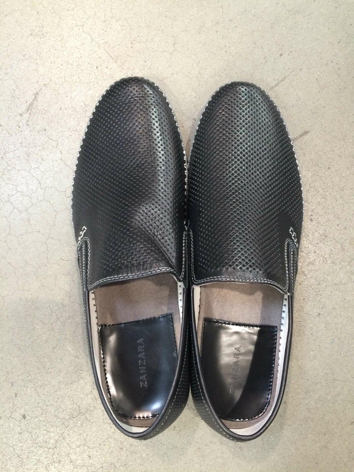 Zanzara Men's Leather Slip on shoes