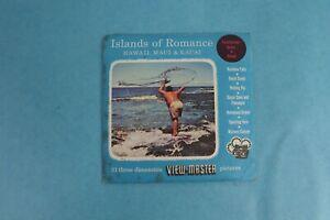 VINTAGE VIEW-MASTER 3D REEL PACKET ISLANDS OF ROMANCE, HAWAII UNNUMBERED