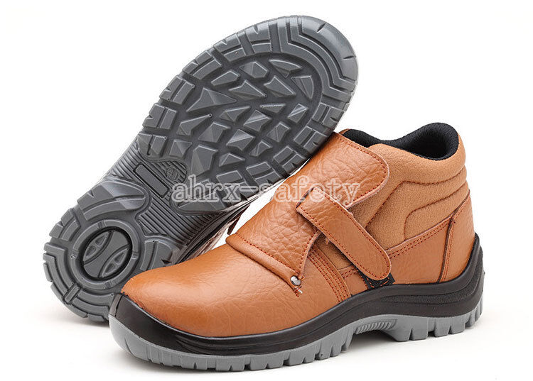 Welder shoes Men's Leather Chukka Steel Toe Welding Boots Work Safety shoes