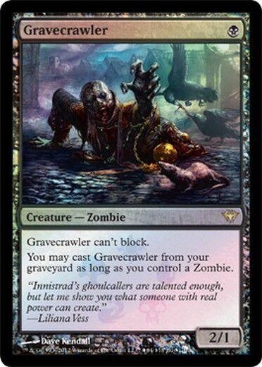FOIL PROMO BUY-A-BOX Creeping of Sepolcro - Gravecrawler MTG MAGIC Eng Ita