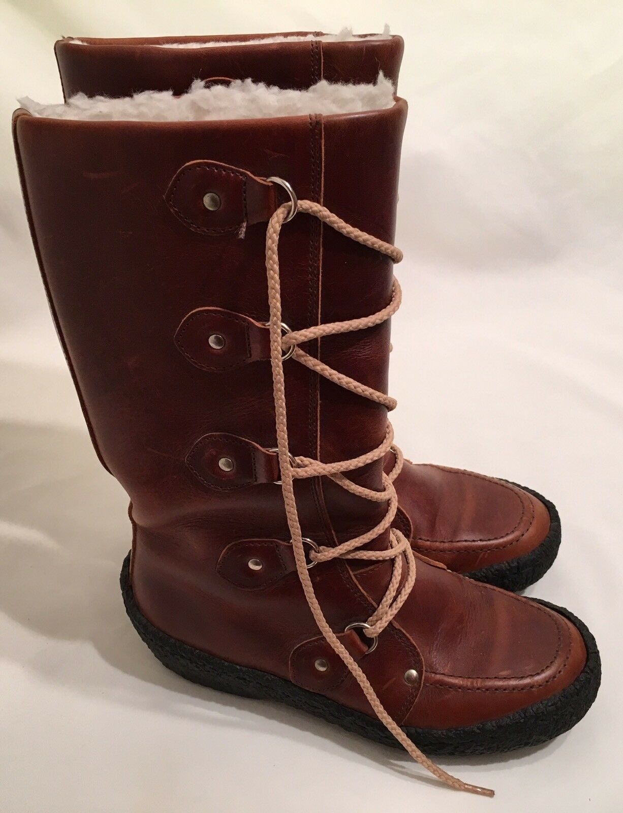 Vintage Cherokee Brown Leather Boots in Womens Size 5 - GENTLY WORN