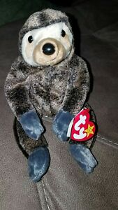 aff5d06ead4 Image is loading TY-Beanie-Baby-Sloth-Slowpoke-w-Tags-Retired-