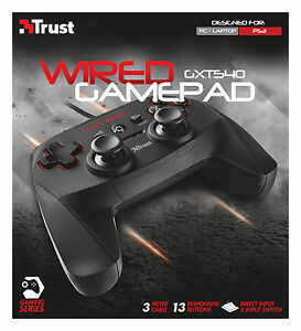 Details about TRUST 20712 GXT540 13 BUTTON GAMEPAD WITH 2 JOYSTICKS,  X-INPUT MODE FOR PC & PS3
