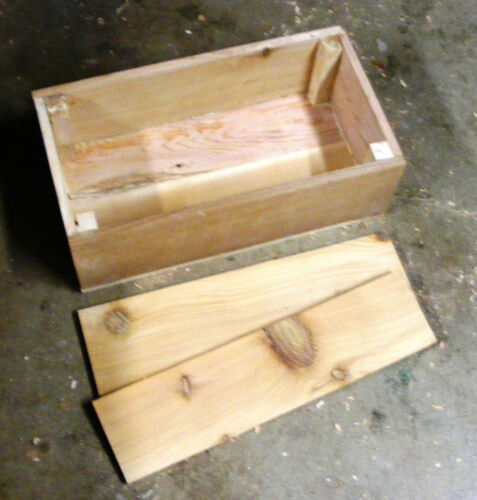 Pet Coffin Casket for Dogs or Cats 23 x 15 x 6 All Cedar U-Build-It Assembly Kit