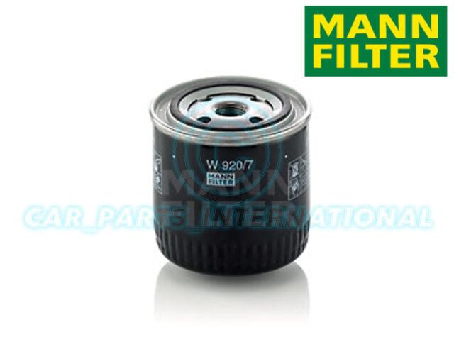 Mann Hummel repuesto de calidad OE Filtro de aceite del motor W 920/7