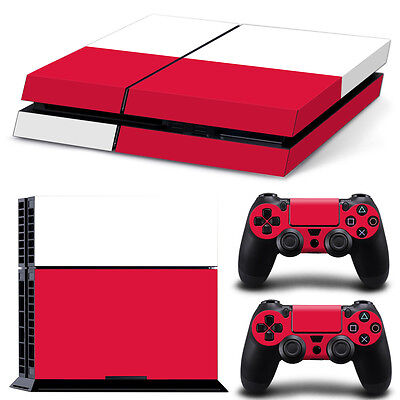 Poland Motiv High Quality Materials Sony Ps4 Playstation 4 Skin Design Aufkleber Schutzfolie Set Video Games & Consoles