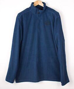 HARLEY-DAVIDSON-Men-Zip-Neck-Fleece-Jumper-Sweater-Size-XL-ATZ939