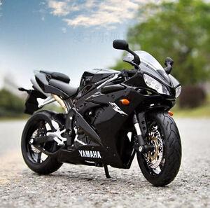Black-YAMAHA-YZF-R1-Racing-Moto-Diecast-Motorcycles-1-12-Scale-MAISTO-Model-Toys