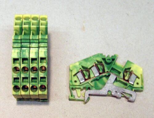 Wago Dreileiterklemme 4mm² PE NEU grüngelb