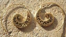 Handmade brass Indian ethnic tribal style earrings
