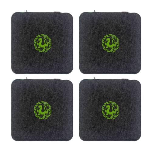 Filz Sitzkissen Waschbare Stuhlauflage mit Füllung inkl 4er Set 35 x 35 x 12 cm
