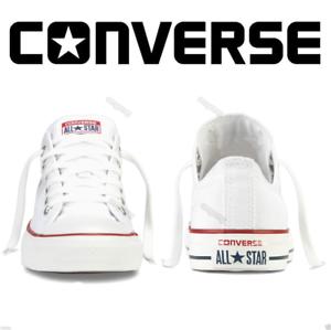 ALL-STAR-Chuck-Taylor-Uomo-Donna-Unisex-Maglia-Scarpe-Di-Tela-Basse-BIANCO-Shoes